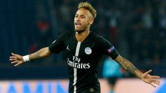 Neymar en un partido con el PSG