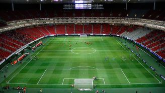 Estadio Akron antes de un partido de Chivas
