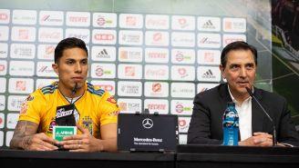 La presentación de Carlos Salcedo con Tigres
