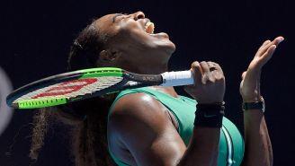 Serena Williams grita durante su partido