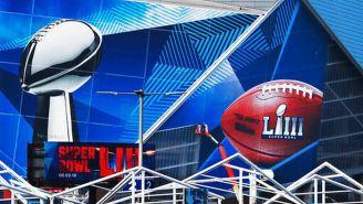 El Mercedes-Benz Stadium previo al Super Bowl