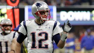 Brady durante el juego del Super Bowl LIII