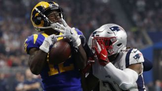Una jugada en el Super Bowl LIII