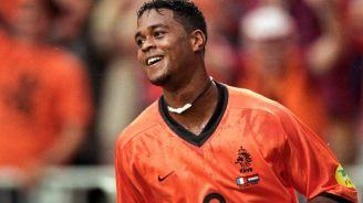 Kluivert, durante un juego de Holanda