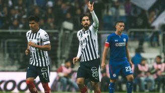 Pizarro y Gallardo festejan anotación con Rayados