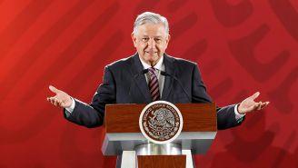 López Obrador en una conferencia matutina