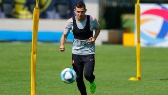 Nicolás Benedetti en un entrenamiento del América