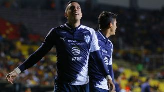 Funes Mori celebra un gol con Rayados