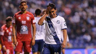 Matías Alustiza se lamenta en partido contra Pachuca