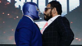Dr. Wagner Jr. y Blue Demon Jr. en un frente a frente
