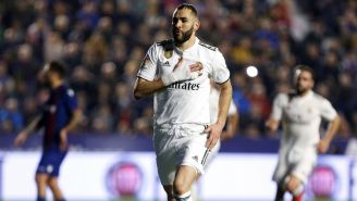 Benzema celebra anotación del Real Madrid