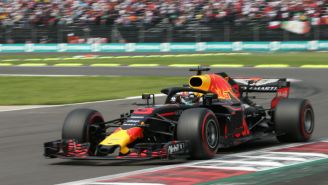 Daniel Ricciardo durante el Gran Premio de México 2018