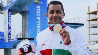 Jahir Ocampo durante los Juegos Centromaericanos