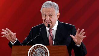 López Obrador durante una conferencia matutina