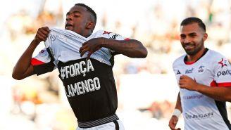Yago Da Silva festeja un gol con Lobos BUAPA