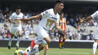 Felipe Mora festeja anotación con Pumas