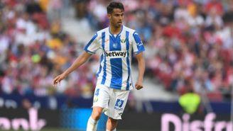 Diego Reyes durante un partido con el Leganés