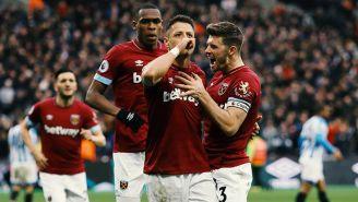 Javier Hernández festeja doblete con el West Ham