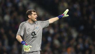 Casillas durante un encuentro del Porto
