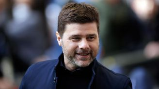 Pochettino en durante un partido del Tottenham