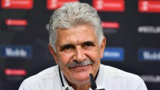Ricardo Ferretti durante una conferencia de prensa