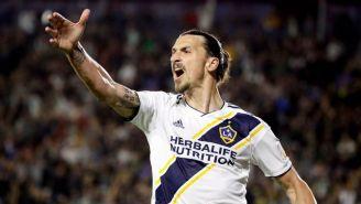 Zlatan Ibrahimovic durante un juego del LA Galaxy
