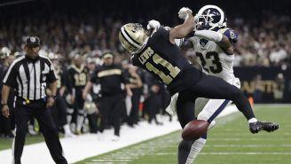 La jugada del polémico castigo no marcado en Rams vs Saints