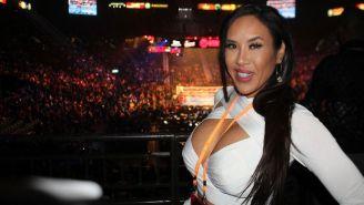 Jenny Sushe, durante una cobertura de box