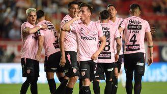 Necaxa, festejando un gol contra Veracruz