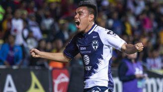 Carlos Rodríguez festeja un gol con Rayados