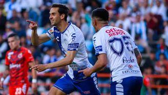Raúl López en pleno festejo de gol