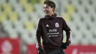 Omar Govea en entrenamiento con la Selección Nacional
