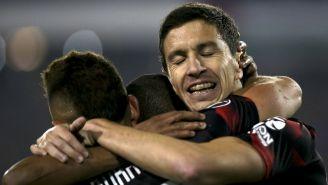 River Plate celebra una anotación frente al Palestino