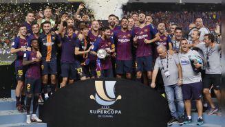 Así celebró el título de la Supercopa
