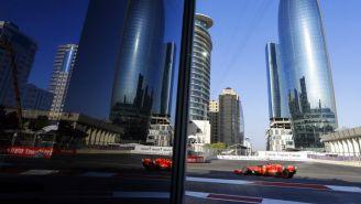 Sebastian Vettel previo a comenzar prueba en el GP de Azerbaiyán