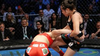 Melissa Martínez golpea a la chilena Caroline Gallardo
