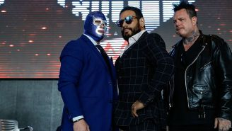 Dr. Wagner Jr. y Blue Demon Jr. en el careo