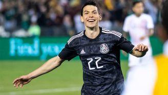Chucky Lozano durante un partido con la Selección Nacional