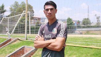 Roberto Meraz, jugador de Morelia, en práctica del Tri Sub 20