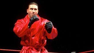 Ken Shamrock en una lucha en WWE