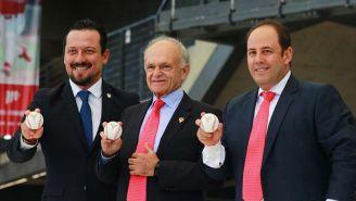 Javier Salinas, Alfredo Harp Helú y Othon Díaz anuncian el Juego de Estrellas