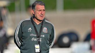 Gerardo Martino, durante un entrenamiento con el Tri