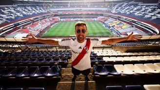 El seguidor de River Plate visitó el Azteca