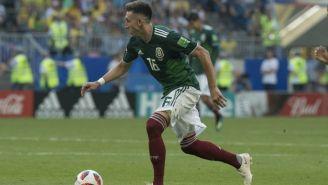 Herrera, durante un juego de la Selección Mexicana