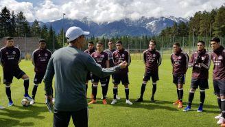 Selección Mexicana Sub 20 en un entrenamiento