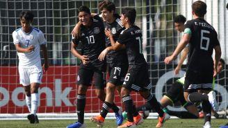 Tri Sub 17 festeja gol ante El Salvador