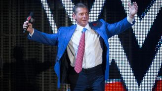 Vince McMahon en un show de WWE