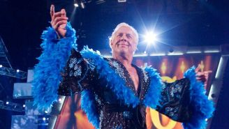 Ric Flair hace su entrada al ring
