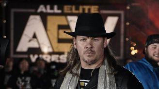 Chris Jericho en una conferencia de prensa de AEW