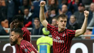 Piatek celebra su gol frente al Frosinone